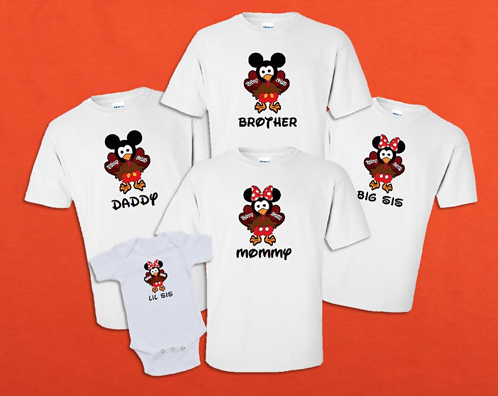 Disney Family Thanksgiving Turkey Mickey And Minnie